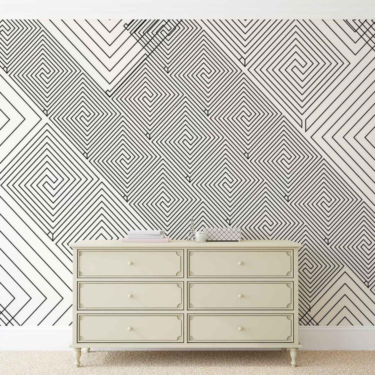 Fototapeta  Abstraktní vzory černobílé