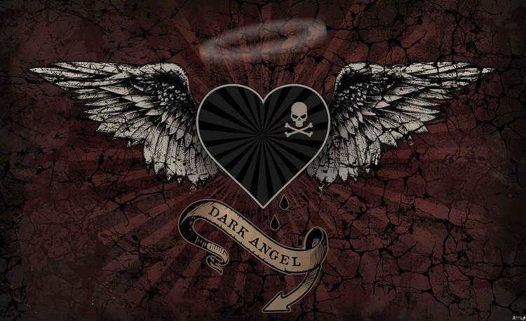 Alchemy Heart Dark Angel Tattoo Fototapeta