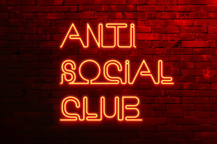 Fototapeta Anti social club
