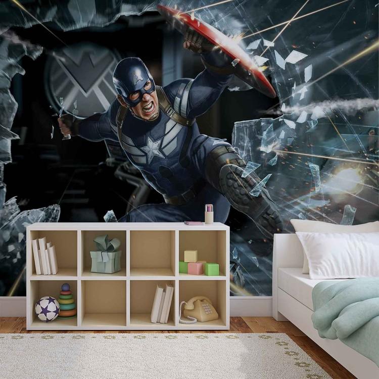 Avengers Kapitan Ameryka Fototapeta