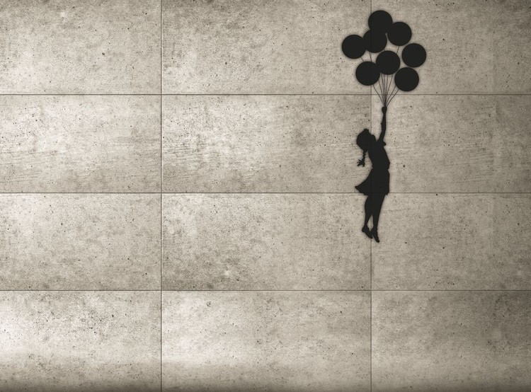 Fototapeta Banksy - Balloon Girl