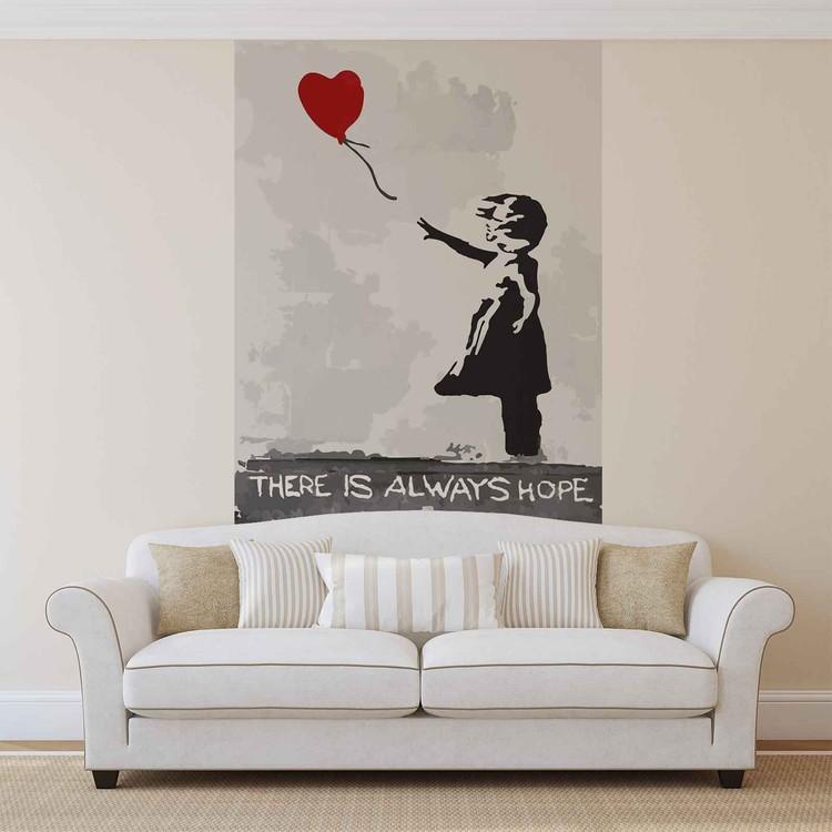 Fototapeta  Banksy Street Art Graffiti - Balón srdce