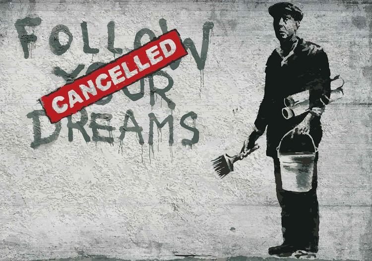 Fototapeta  Bansky Graffiti Betonová stěna