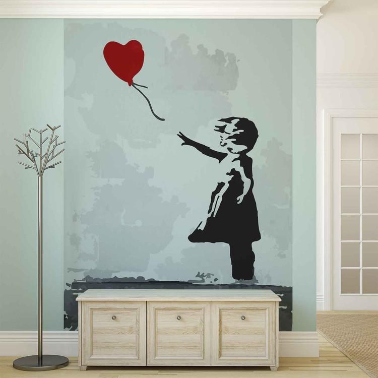 Fototapeta  Bansky Street Art Graffiti - Balón srdce