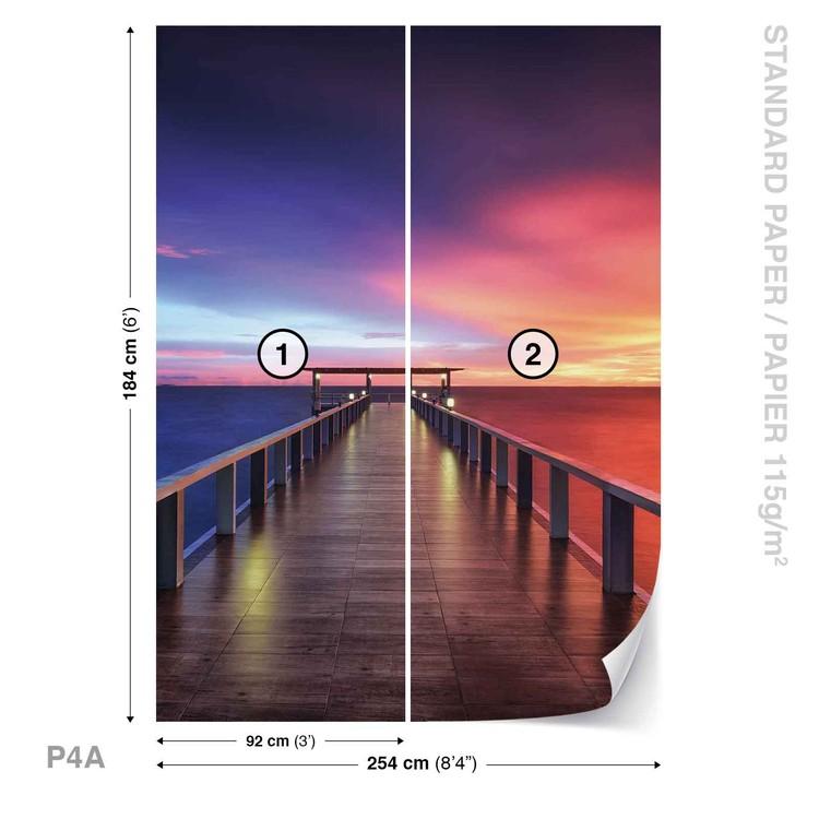 Fototapeta Barevný západ slunce - most