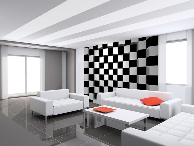 Fototapeta Black + White Squares