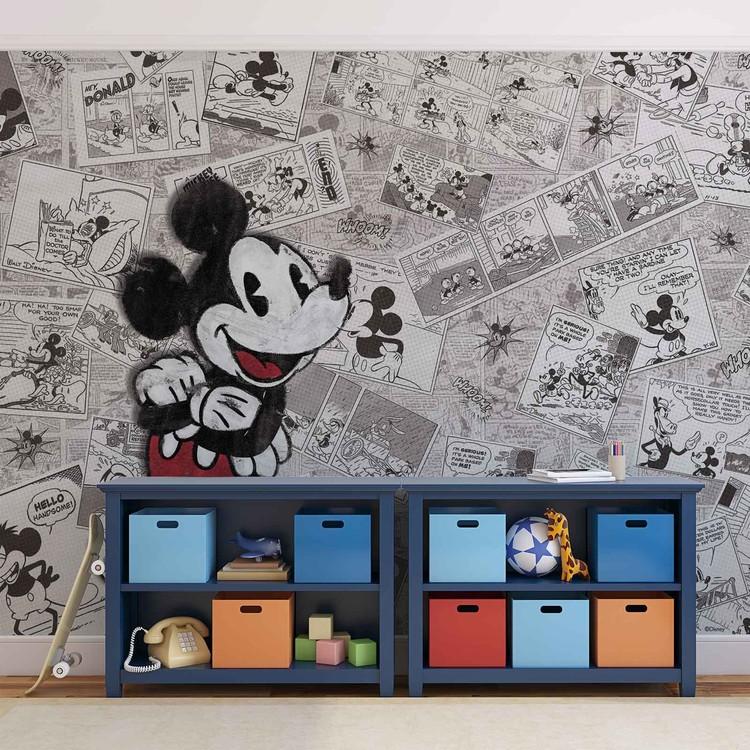 Disney Myszka Miki Retro gazeta Fototapeta