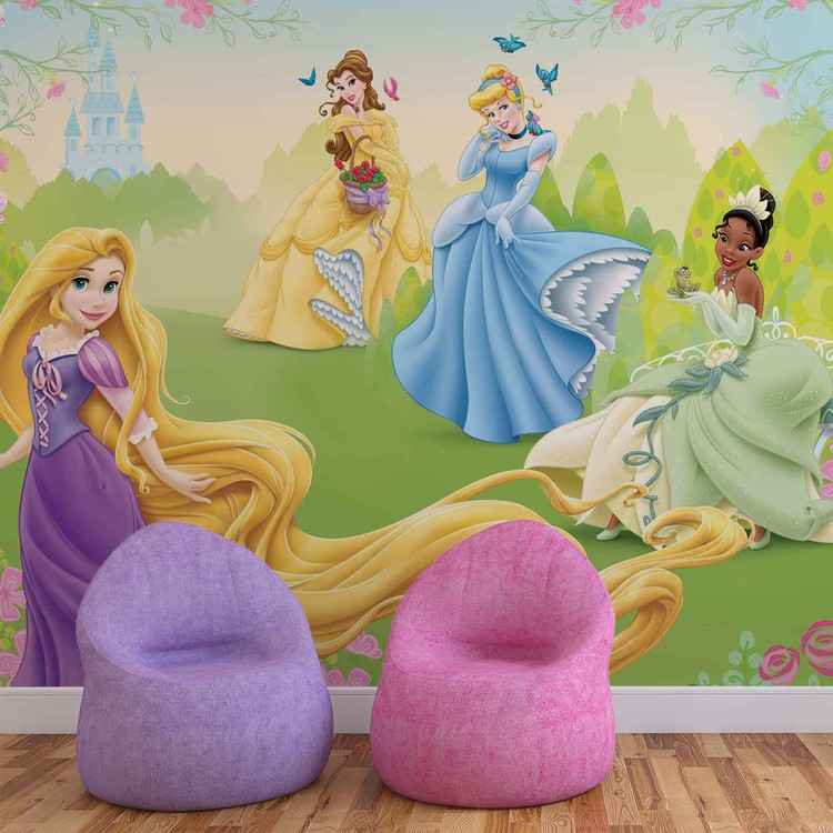 48a251f2f929 Fototapeta Disney princezné Rapunzel Tiana Belle - Tapeta na stenu ...