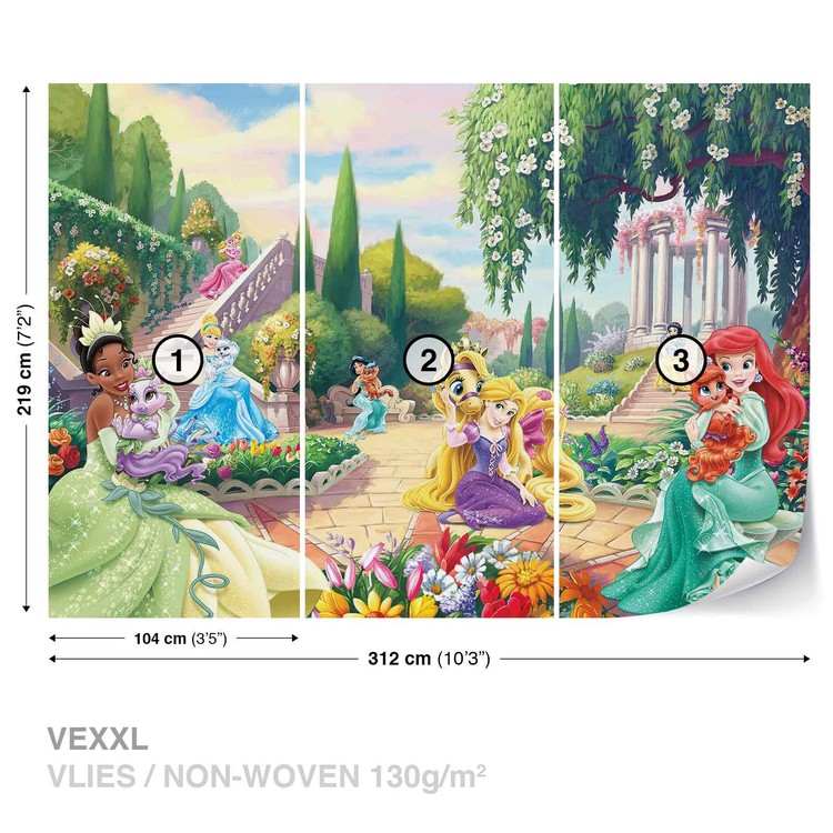 Fototapeta  Disney Princezny Tiana, Ariel, Aurora
