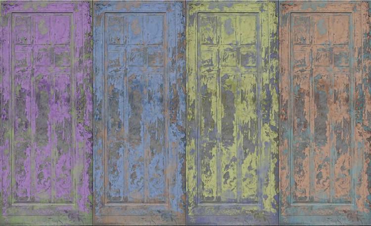 Fototapeta  Dřevěné dveře - Rustikální styl