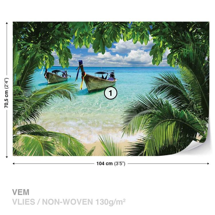 Fototapeta  Exotika, pláž, palmy