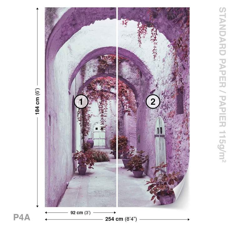 Fototapeta  Fialová pasáž, květiny