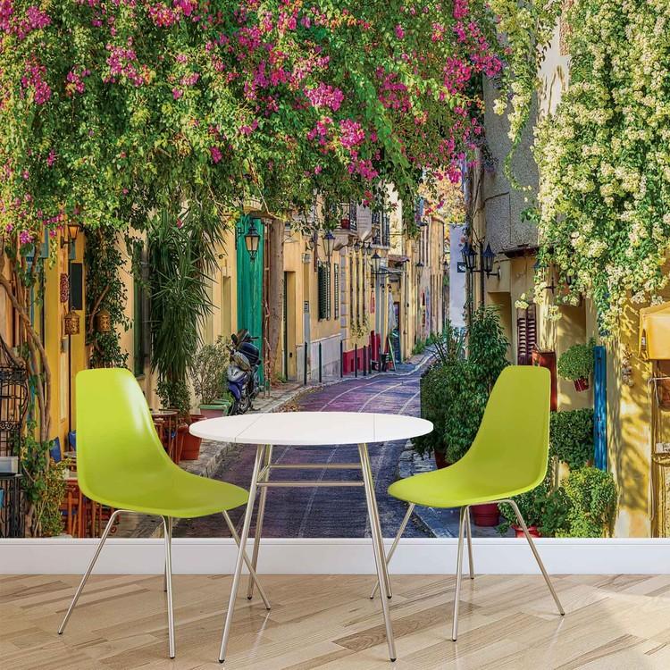 Flower Street Way Café Fototapeta