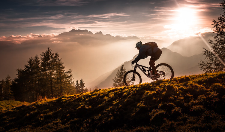 Fototapeta Golden hour biking
