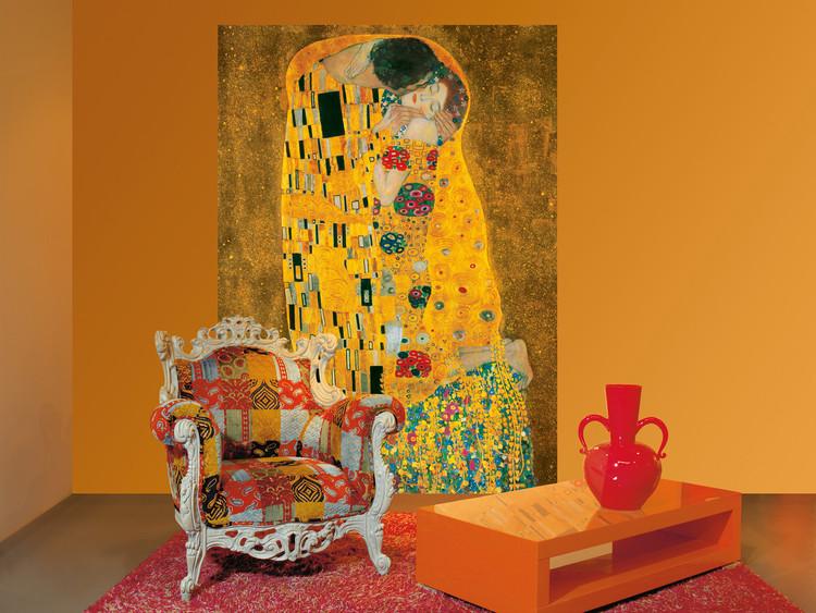 Fototapeta Gustav Klimt - Polibek, 1907-1908