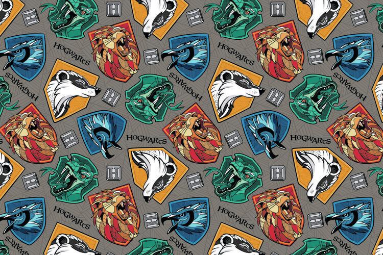 Harry Potter - Hogwarts crests Fototapeta