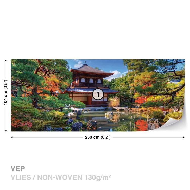 Fototapeta  Japonská zahrada, kostel