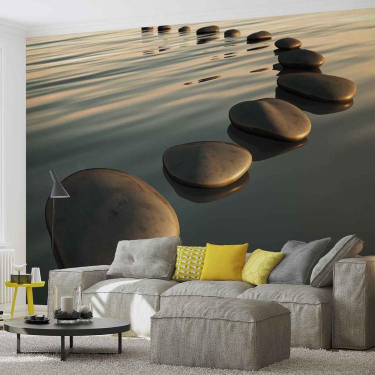 Fototapeta Kamení na vodě, Zen