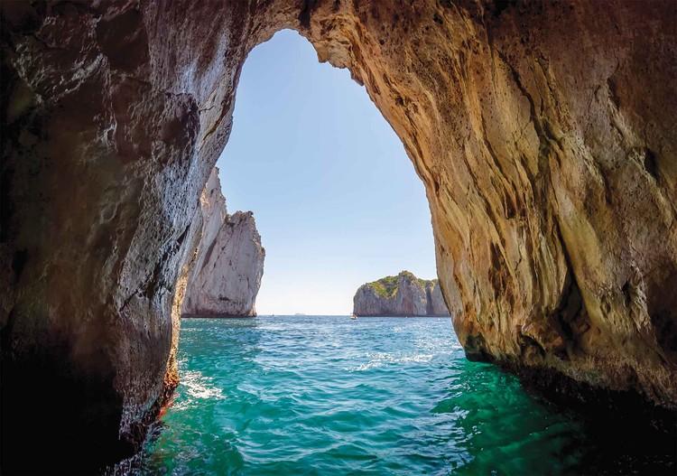 Fototapeta Kamenné jeskyně Tunelové moře