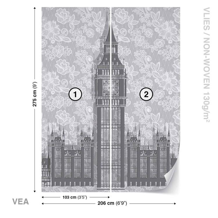 Fototapeta Londyn Ciernobiela Kresba Tapeta Na Stenu Na Posters Sk
