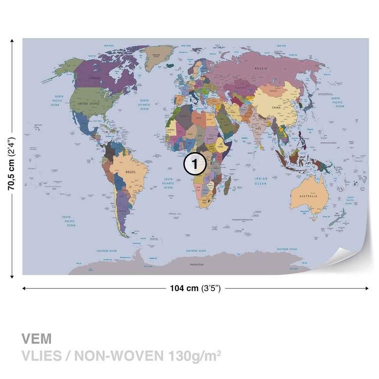 Fototapeta Mapa světa