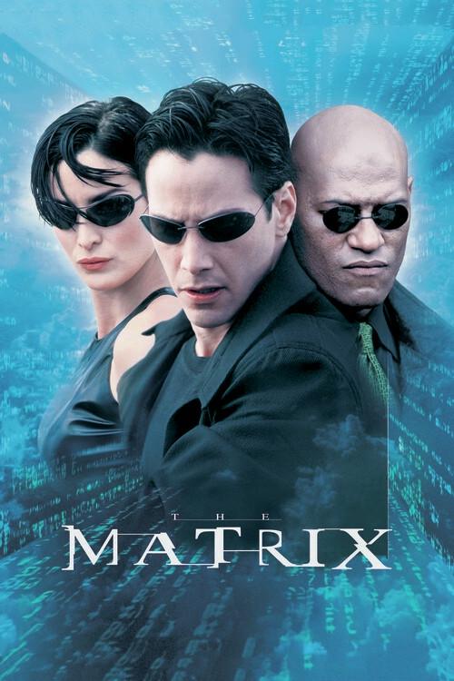 Matrix - Neo, Trinity i Morpheus Fototapeta