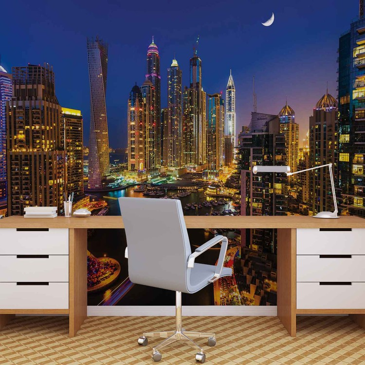 Fototapeta  Město Dubaj v noci