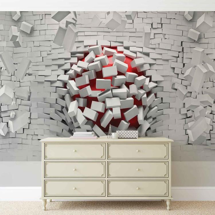 Fototapeta  Moderní abstraktní cihlové zdi