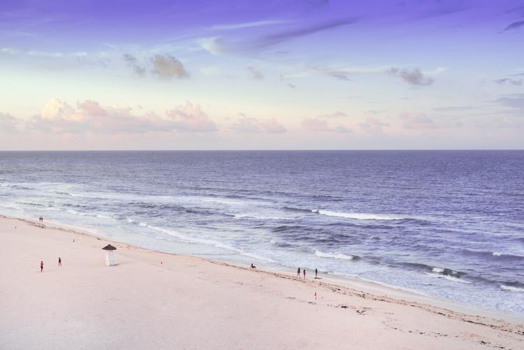 Fototapeta Ocean View at Sunset - Cancun