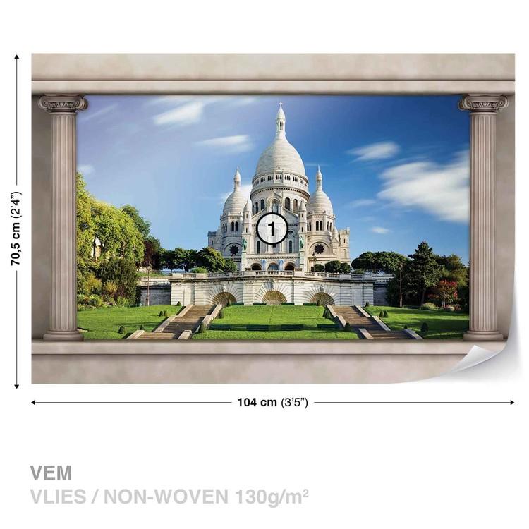 Fototapeta  Paříž Sacré Coeur - Pohled z okna