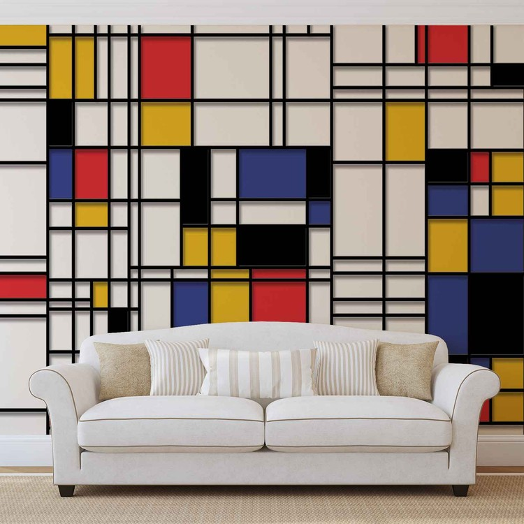 Piet Mondrian - Kompozycja Fototapeta