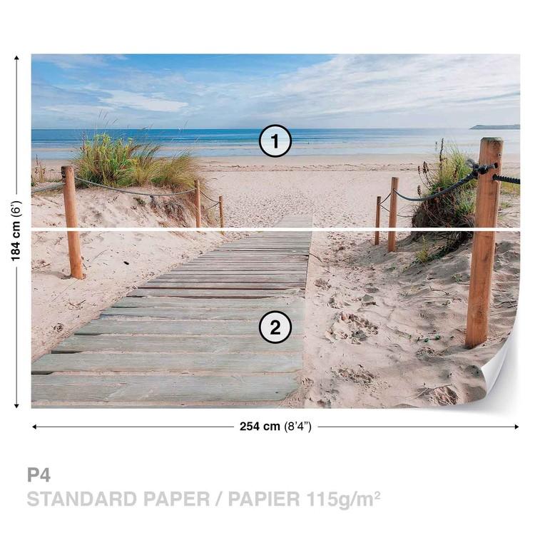 Fototapeta  Plážova cestička - Piesočná pláž - Príroda