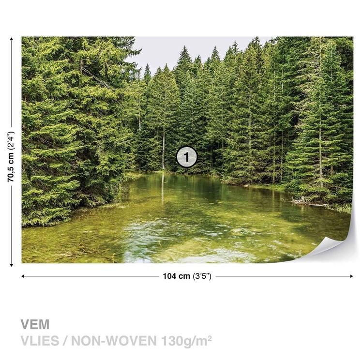 Fototapeta  Příroda - Řeka v lese