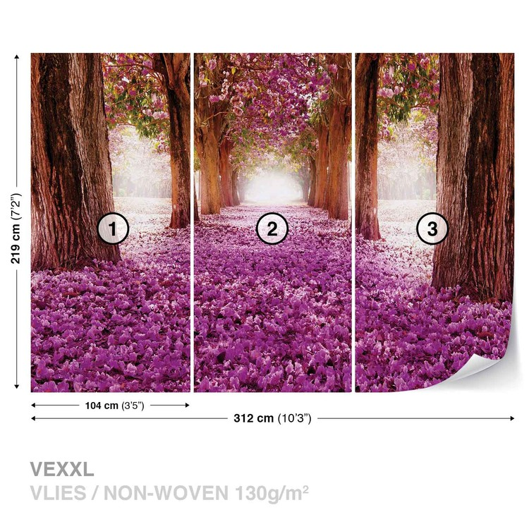 Fototapeta Rozkvetlé stromy - Alej