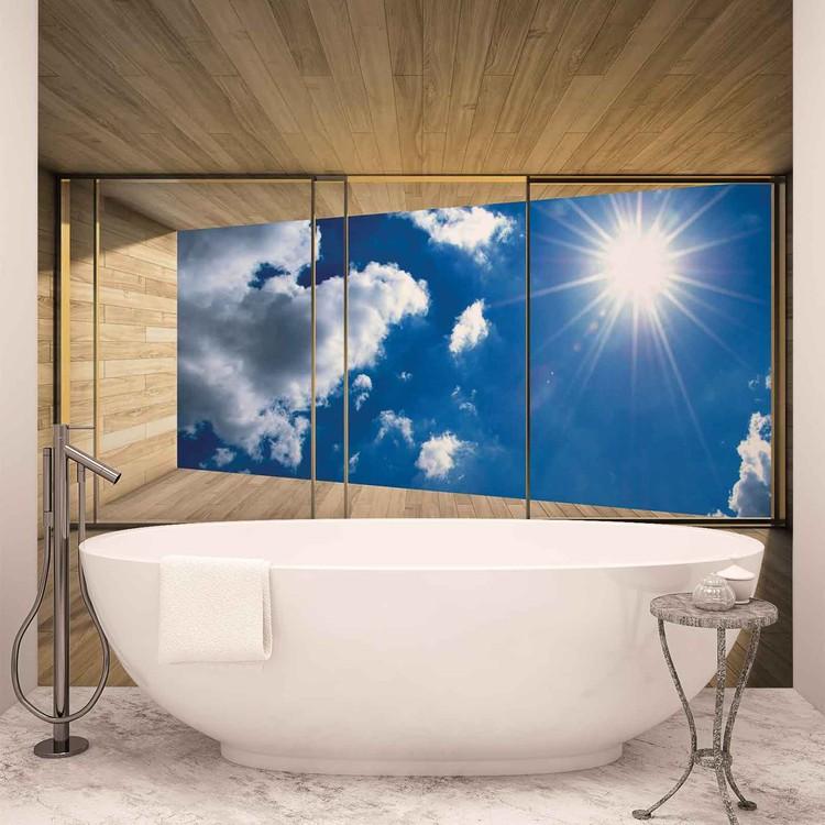 Fototapeta  Slunečná obloha - Pohled z okna