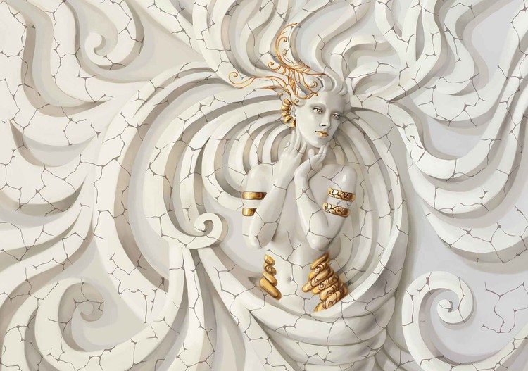 Fototapeta Socha ženy - bohyňa, medúza