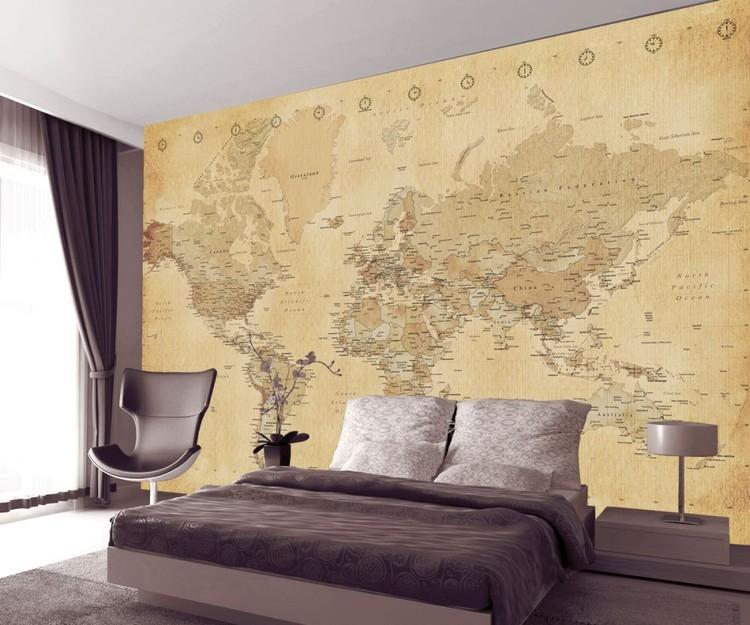 Fototapeta Starozitna Mapa Sveta Tapeta Na Stenu Na Posters Sk