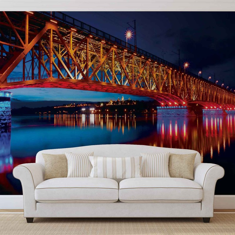 Fototapeta  Vysvietený most v noci