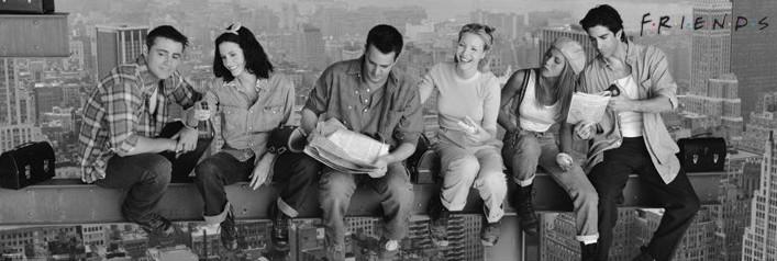 Αφίσα πόρτας  Friends - Lunch on a skyscraper