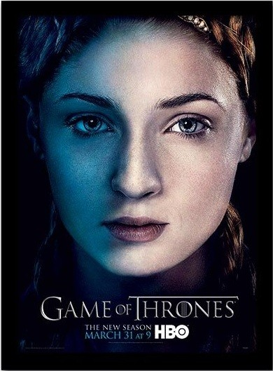 GAME OF THRONES 3 - sansa üveg keretes plakát