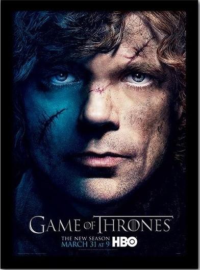 GAME OF THRONES 3 - tyrion üveg keretes plakát