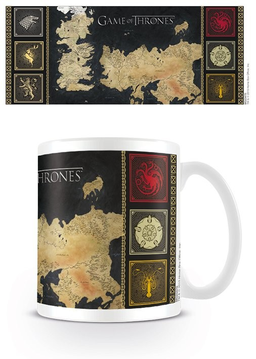 Hrnček Game of Thrones mapa