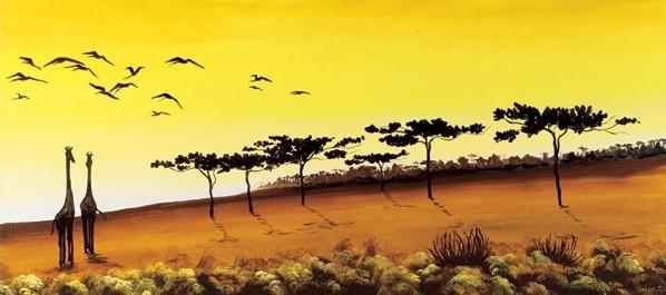 Giraffes, Africa Festmény reprodukció