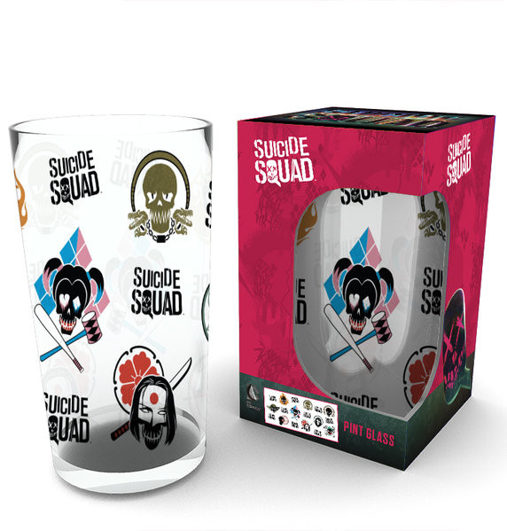 Suicide Squad - Faces Glas