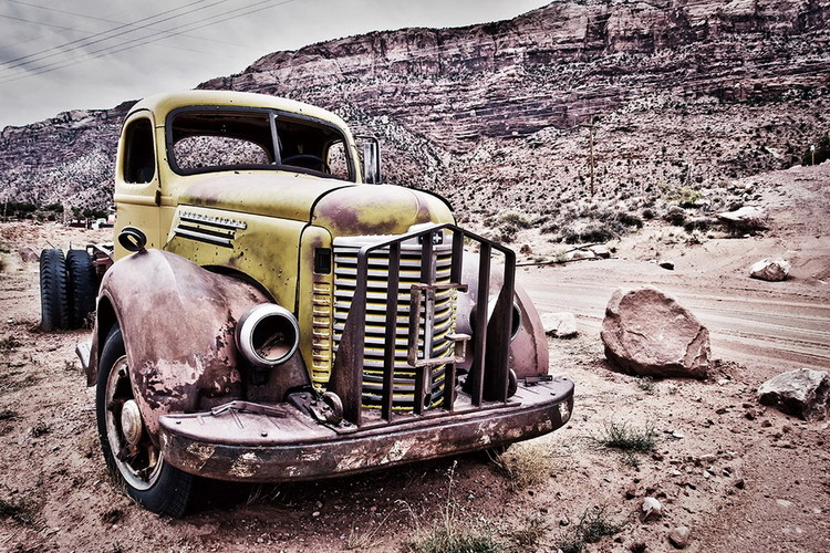 Glasbilder Cars - Old car