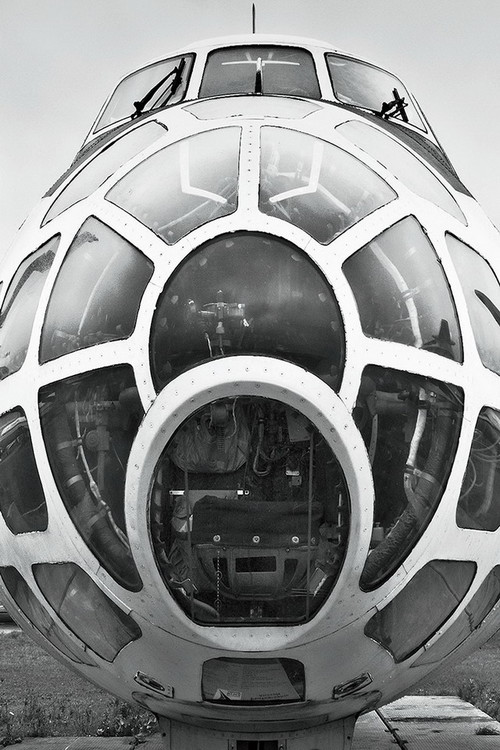 Glasbilder Plane - Cockpit