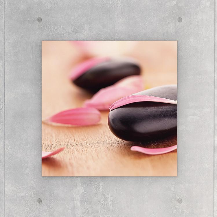 Glasbilder Zen - Pink