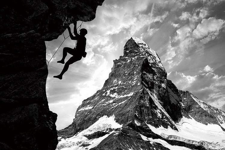 Принт стъкло Be Brave - Climb the Mountain