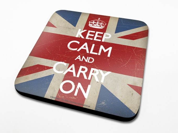 Keep Calm - Union Jack Glassbrikke