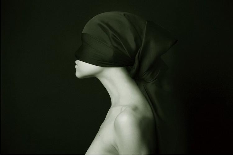 Glasschilderij  Art Woman - Silhouette &W